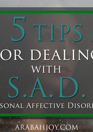 If you struggle in winter, often feeling down or discouraged, try these 5 tips for dealing with seasonal affective disorder (SAD).