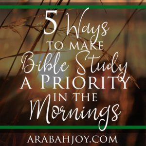 Do you long to study God's Word but struggle with the time? Try these 5 ways to make Bible study a priority in the mornings.