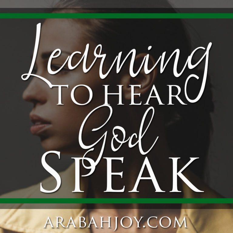 Learning to Hear God Speak