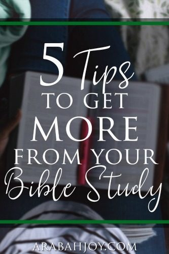 If you are ready to go deeper in your Bible study, here are 5 tips to get more from your Bible study