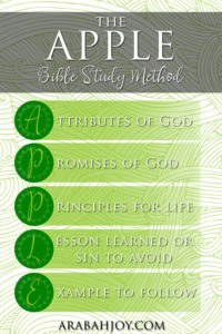 Many of us want to read the Bible and grow deeper in faith, but struggle with how to read and understand the Scriptures. The APPLE Bible study method is the simple solution to your quiet time woes.