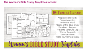 This Family Bible Study Toolkit includes templates and printables for getting the most out of God's word!