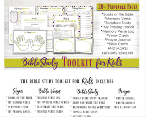 Get your kids hooked on studying God's word with the Family Bible Study Toolkit!