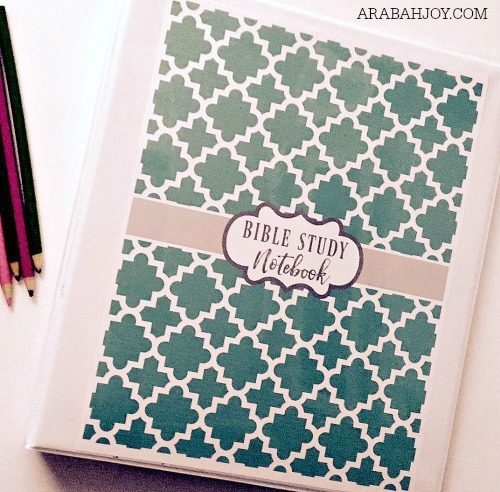 how to create your own bible study notebook