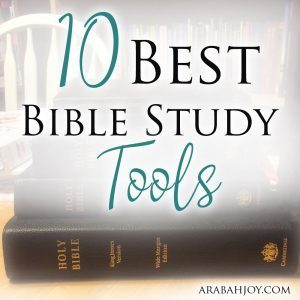 These are the 10 best tools I've found for Bible study. Use these to enrich your faith and to go deeper in your relationship with the Lord. #BibleStudy #faith
