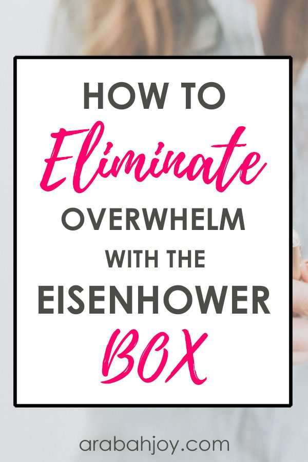 Use the Eisenhower Box to make goals a reality with this approach to planning our God-sized dreams.