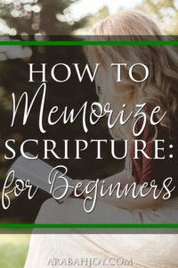 Are you looking for a way to memorize Scripture that deepens your Bible study time and helps you apply the passage? Try this method to memorize Scripture.