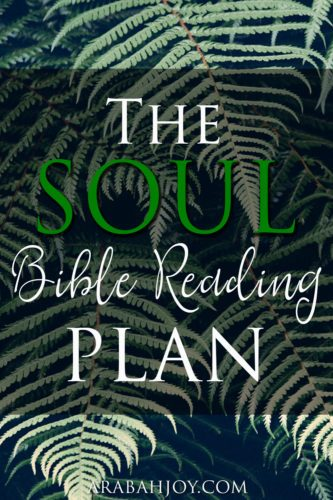Try the SOUL Bible Reading Plan and get 2 free printable bookmarks - share one with a friend
