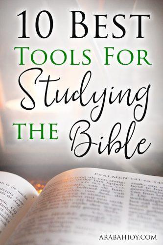10 Best Bible Study Tools - Arabah