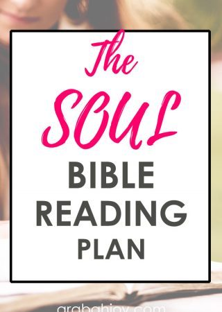 Try the SOUL Bible Reading Plan. Read more about that plan here, then use the free printable bookmarks to help you in your Bible study.