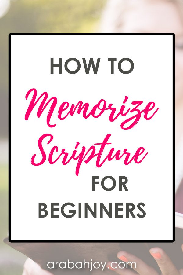 How to Memorize Scripture for Beginners