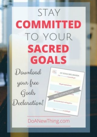 Check out these tips for staying committed to your goals {with linkup}