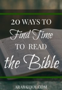 Are you in a busy season, wondering how you can even fit in a quiet time? Here are 20 ways to find time to read the Bible.