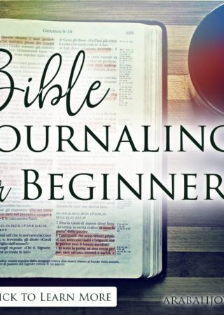Looking for an easy way to start Bible Journaling? Check out this simple but beautiful way to begin Bible journaling