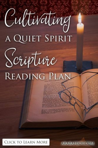 We're cultivating a quiet heart with this Bible reading plan because when life enters these busy seasons, the daily hustle often pushes out God's peace.
