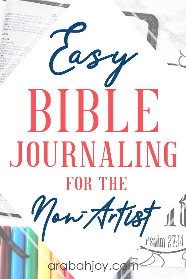 If you're interested in journaling in your Bible, but you're not an artist, check out our tips on easy journaling for the non- artist.