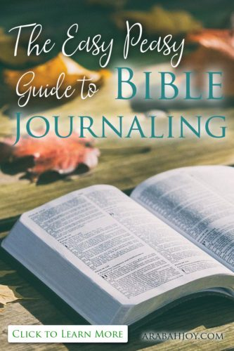 Easy Bible Journaling For The Non Artist