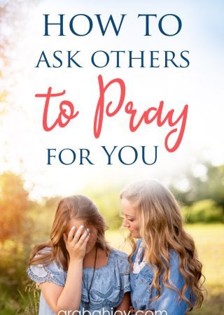 If you are hesitant to ask others to pray for you, and feel you should be able to handle it on your own, read our post to learn how to ask others to pray for you.
