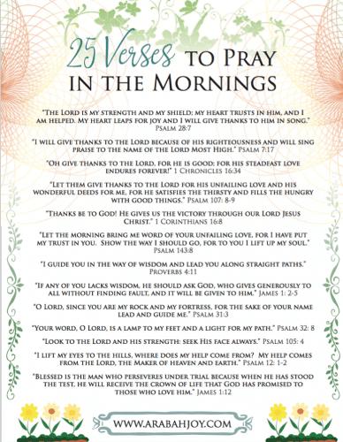 25 morning scriptures to pray