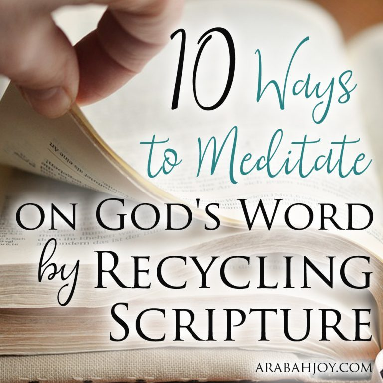10 Ways Busy Moms Can Meditate on the Word