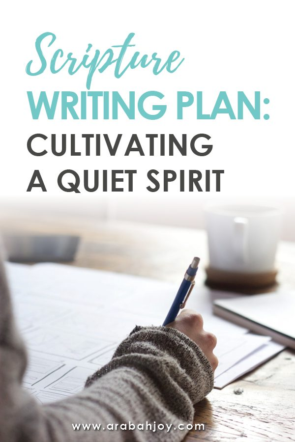Cultivating a Quiet Heart Bible Reading Plan