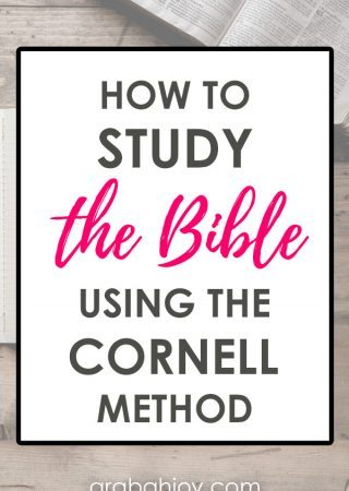 Are you looking for a new way to study the Bible? This format is perfect for beginners and pros. Here's how to study the Bible using the Cornell note taking method.