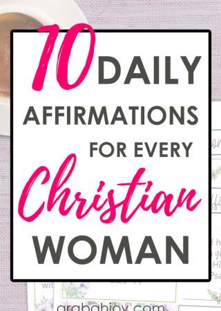 We use biblical affirmations to guard our hearts. Use these daily affirmations for every Christian woman to strengthen your faith. Grab the printable affirmation cards.