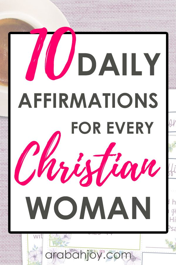 image about Affirmation Cards Printable titled 10 Everyday Affirmations for Each and every Christian Lady