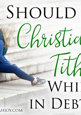 There are many ways to cut back on spending while trying to get out of debt. But should a Christian tithe while in debt? Read about tithing while in debt.