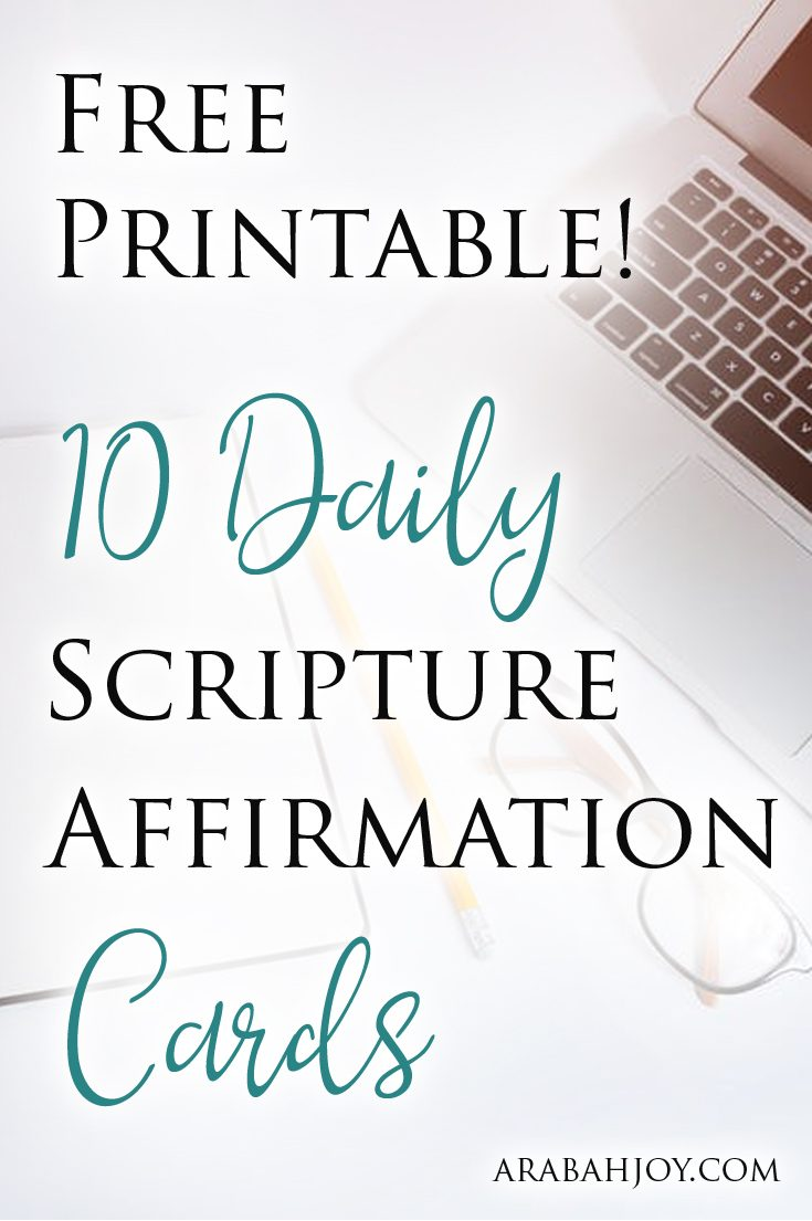 photo relating to Affirmation Cards Printable called Cost-free Printable! 10 Each day Scripture Confirmation Playing cards