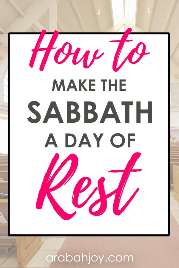 Are you looking for ideas for how to keep the Sabbath holy? Which one of these from our list can you try this week? We