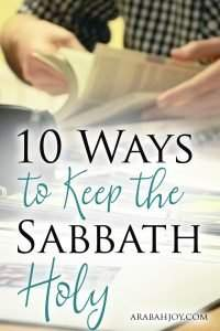 Do you take a Sabbath rest, a break from the work of the week? God created the Sabbath for our good. Try these 10 ways to keep the Sabbath holy.