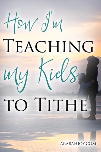 Teaching my kids to tithe offers me the chance to walk them through faith-building with the Lord. I pray this practice becomes second nature as they grow.