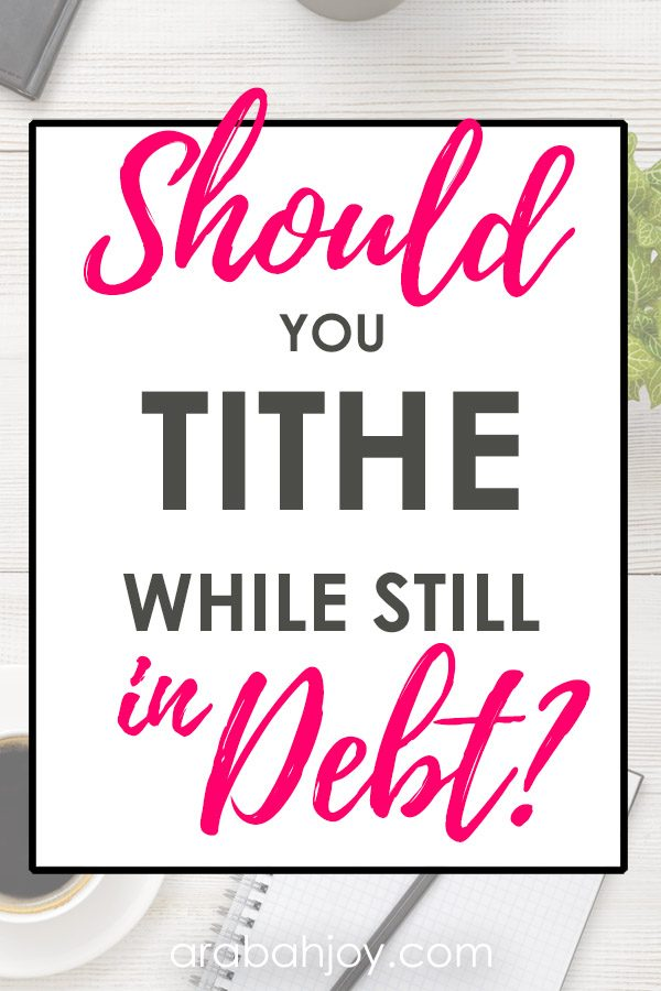 What does the Bible say about debt and tithing? How do you tithe when you are in debt? Read these ideas about tithing and debt for the Christian.