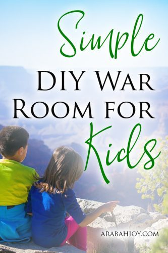 Are you looking to teach your child the priority of prayer in their life? Try this Simple DIY War Room for Kids to help them develop a healthy prayer life.