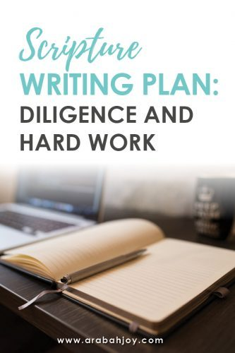 Scripture Writing plan: What does the Bible say about diligence and hard work?