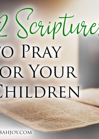 Check out these 12 Scriptures to Pray for Your Children with FREE Printable Bookmark
