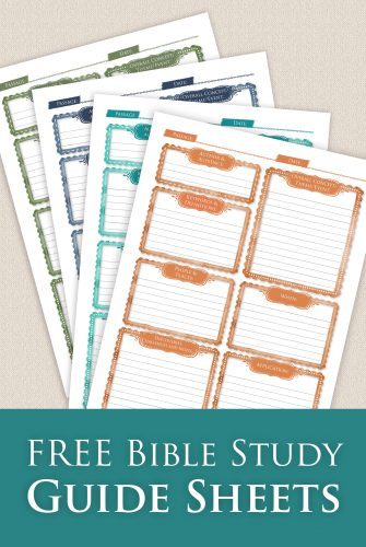 Free Bible Study Printable Sheets