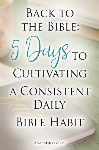 Back to the Bible A 5-Day Challenge for Cultivating Better Bible Habits