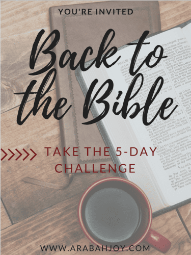 Calling all Bible slackers! Take this 5-day challenge and get back to the Bible! #Biblestudy