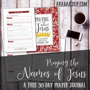 Imagine how praying the Names of Jesus can soothe the soul? Download this FREE 30-day prayer journal and start praying the names of Jesus today.