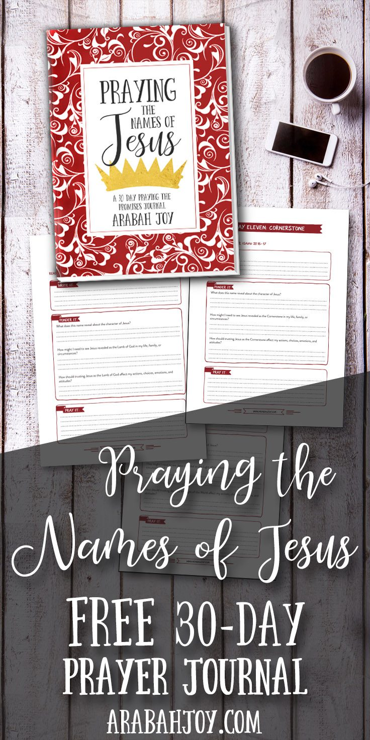 Imagine how praying the Names of Jesus can soothe the soul? Download this FREE 30-day prayer journal and start praying the names of Jesus today. #prayer #prayerjournal #Christmas