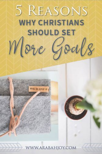 Do you plan to set goals for the new year? What role does goal setting play in the life of a Christian? Learn how to set goals and pursue God's plans with the Grace Goals Planner. #goals #planners