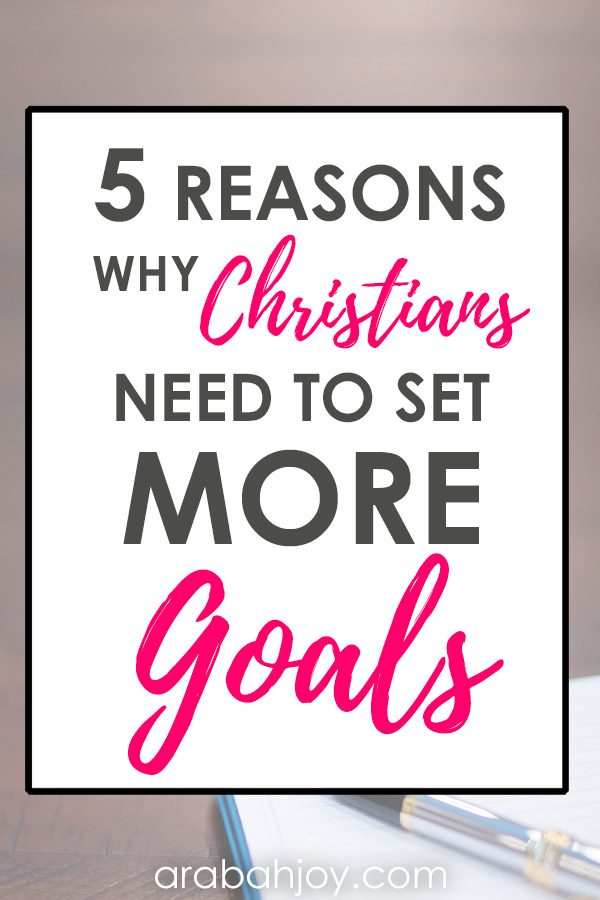 5 Reasons to use your Christian planner and set goals