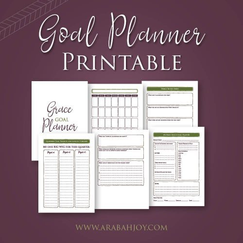 Grace Goals Planner: Grab your FREE Goal Planner pages!