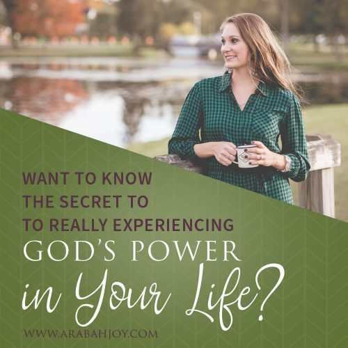 Are you experiencing God's power in your life? Are you looking for a fresh way to experience growth in your walk with God? This resource offers what you need to really experience God's power. #spiritualgrowth #jesus