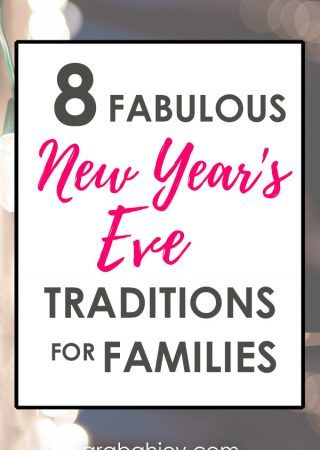 Celebrate New Year's with these great New Year's Eve traditions for families. These traditions are our family's favorite way to ring in the new year!