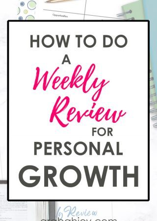 Use these questions and resources for a weekly review for personal growth.