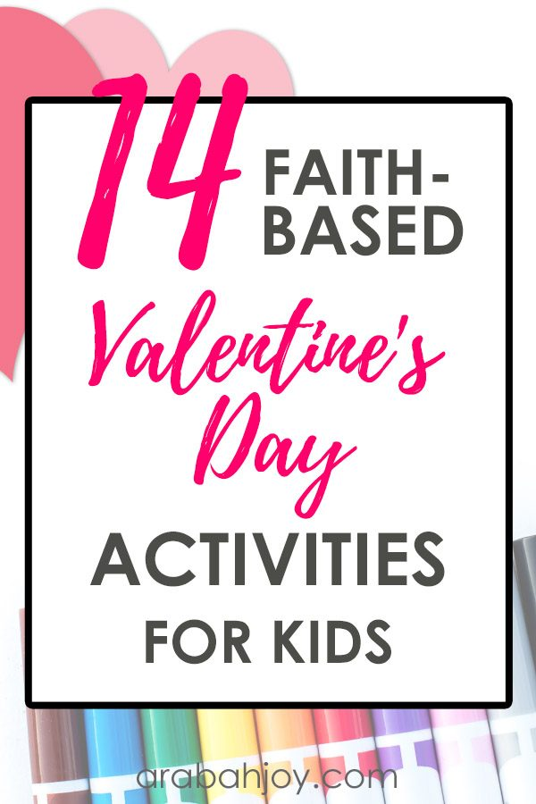 14 Faith-Based Valentine's Day Activities for kids that make great Valentine's Day family traditions!