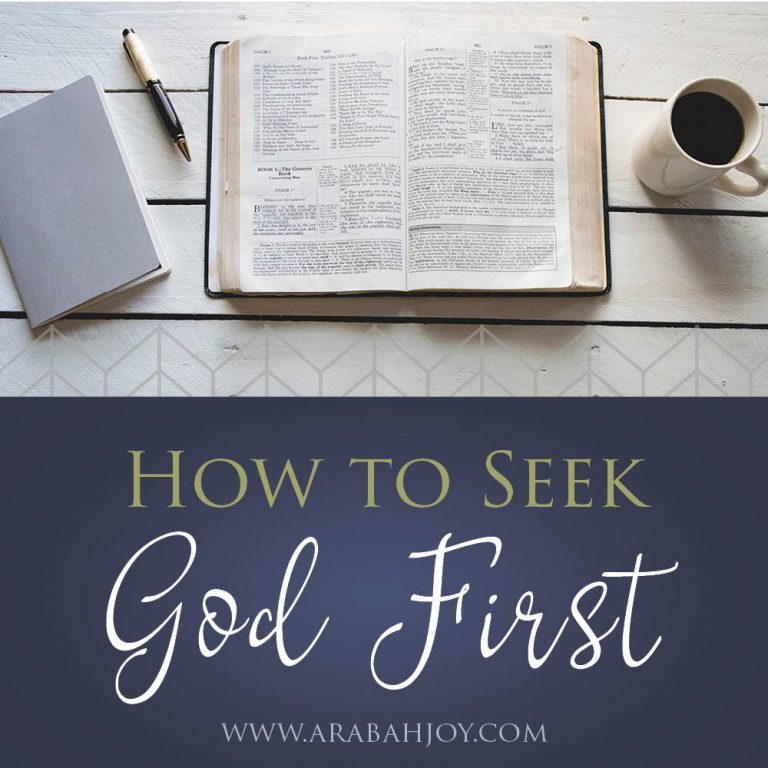 How to Seek God First